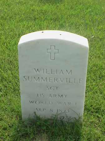 SUMMERVILLE (VETERAN WWI), WILLIAM - Pulaski County, Arkansas   WILLIAM SUMMERVILLE (VETERAN WWI) - Arkansas Gravestone Photos
