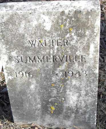 SUMMERVILLE, WALTER - Pulaski County, Arkansas   WALTER SUMMERVILLE - Arkansas Gravestone Photos
