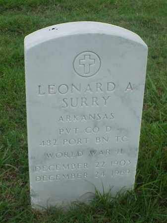 SURRY (VETERAN WWII), LEONARD A - Pulaski County, Arkansas   LEONARD A SURRY (VETERAN WWII) - Arkansas Gravestone Photos