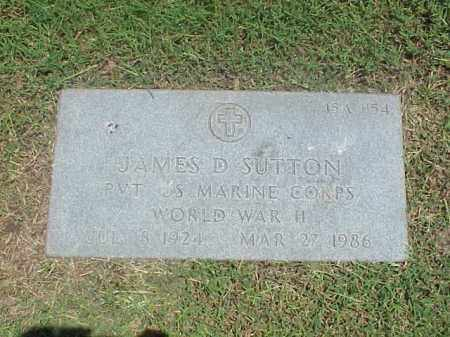 SUTTON (VETERAN WWII), JAMES D - Pulaski County, Arkansas | JAMES D SUTTON (VETERAN WWII) - Arkansas Gravestone Photos
