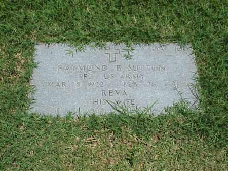 SUTTON (VETERAN WWII), RAYMOND B - Pulaski County, Arkansas | RAYMOND B SUTTON (VETERAN WWII) - Arkansas Gravestone Photos