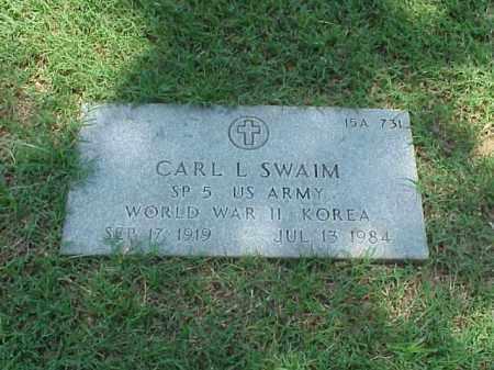 SWAIM (VETERAN 2 WARS), CARL L - Pulaski County, Arkansas | CARL L SWAIM (VETERAN 2 WARS) - Arkansas Gravestone Photos