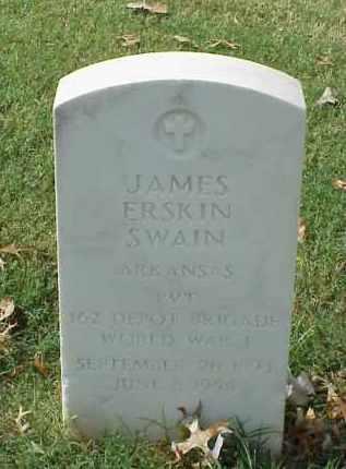 SWAIN (VETERAN WWI), JAMES ERSKIN - Pulaski County, Arkansas | JAMES ERSKIN SWAIN (VETERAN WWI) - Arkansas Gravestone Photos