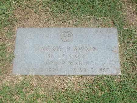 SWAIN (VETERAN WWII), JACKIE B - Pulaski County, Arkansas   JACKIE B SWAIN (VETERAN WWII) - Arkansas Gravestone Photos