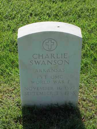 SWANSON (VETERAN WWI), CHARLIE - Pulaski County, Arkansas | CHARLIE SWANSON (VETERAN WWI) - Arkansas Gravestone Photos