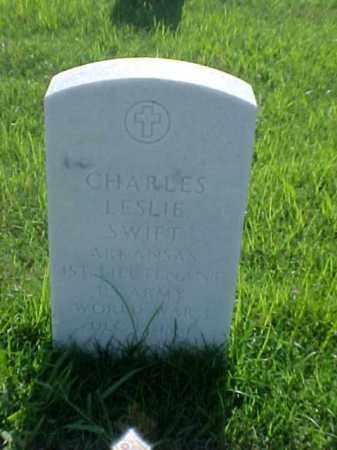 SWIFT (VETERAN WWI), CHARLES LESLIE - Pulaski County, Arkansas | CHARLES LESLIE SWIFT (VETERAN WWI) - Arkansas Gravestone Photos