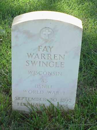 SWINGLE (VETERAN WWI), FAY WARREN - Pulaski County, Arkansas | FAY WARREN SWINGLE (VETERAN WWI) - Arkansas Gravestone Photos