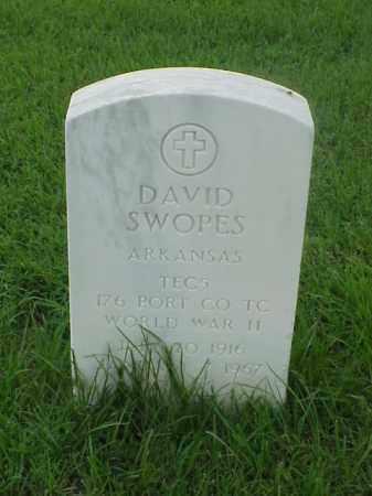 SWOPES (VETERAN WWII), DAVID - Pulaski County, Arkansas | DAVID SWOPES (VETERAN WWII) - Arkansas Gravestone Photos