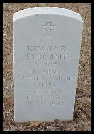 SYBRANT (VETERAN 3 WARS), ERWIN R - Pulaski County, Arkansas | ERWIN R SYBRANT (VETERAN 3 WARS) - Arkansas Gravestone Photos