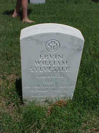 SYLVESTER (VETERAN WWII), ERVIN WILLIAM - Pulaski County, Arkansas | ERVIN WILLIAM SYLVESTER (VETERAN WWII) - Arkansas Gravestone Photos