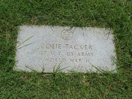 TACKER (VETERAN WWII), COSIE - Pulaski County, Arkansas   COSIE TACKER (VETERAN WWII) - Arkansas Gravestone Photos