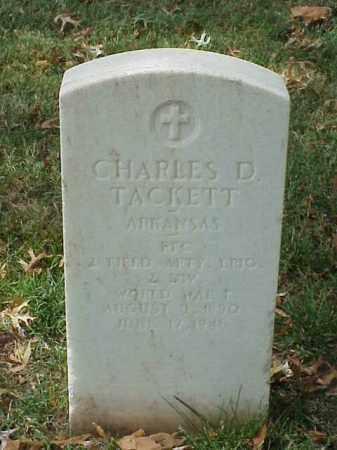 TACKETT (VETERAN WWI), CHARLES D - Pulaski County, Arkansas   CHARLES D TACKETT (VETERAN WWI) - Arkansas Gravestone Photos