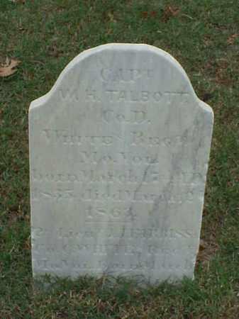 TALBOTT (VETERAN CSA), WILLIAM H - Pulaski County, Arkansas | WILLIAM H TALBOTT (VETERAN CSA) - Arkansas Gravestone Photos