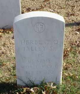 TALLEY, SR (VETERAN WWII), HERBERT Q - Pulaski County, Arkansas | HERBERT Q TALLEY, SR (VETERAN WWII) - Arkansas Gravestone Photos