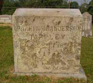 TARPLEY, ABRAHAM GRANDERSON - Pulaski County, Arkansas | ABRAHAM GRANDERSON TARPLEY - Arkansas Gravestone Photos