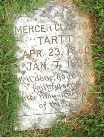 CLAPTON TARTT, MERCER - Pulaski County, Arkansas | MERCER CLAPTON TARTT - Arkansas Gravestone Photos