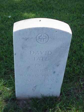 TATE (VETERAN WWII), DAVID - Pulaski County, Arkansas | DAVID TATE (VETERAN WWII) - Arkansas Gravestone Photos