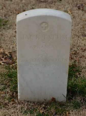 TATUM (VETERAN WWI), JACK - Pulaski County, Arkansas | JACK TATUM (VETERAN WWI) - Arkansas Gravestone Photos