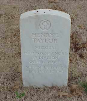 TAYLOR  (VETERAN WWI), HENRY L - Pulaski County, Arkansas | HENRY L TAYLOR  (VETERAN WWI) - Arkansas Gravestone Photos