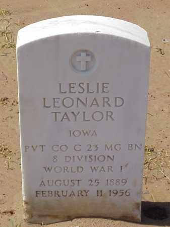 TAYLOR  (VETERAN WWI), LESLIE LEONARD - Pulaski County, Arkansas   LESLIE LEONARD TAYLOR  (VETERAN WWI) - Arkansas Gravestone Photos