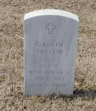 TAYLOR  (VETERAN WWII), CALVIN - Pulaski County, Arkansas | CALVIN TAYLOR  (VETERAN WWII) - Arkansas Gravestone Photos