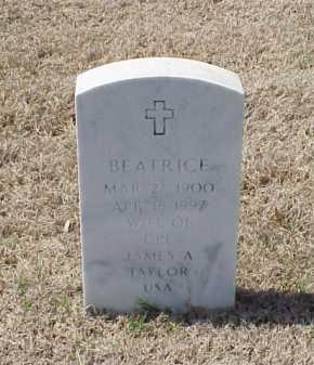 TAYLOR, BEATRICE - Pulaski County, Arkansas   BEATRICE TAYLOR - Arkansas Gravestone Photos