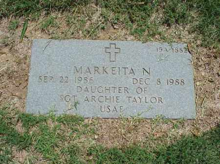 TAYLOR, MARKEITA N - Pulaski County, Arkansas | MARKEITA N TAYLOR - Arkansas Gravestone Photos