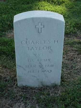 TAYLOR (VETERAN), CHARLES H - Pulaski County, Arkansas   CHARLES H TAYLOR (VETERAN) - Arkansas Gravestone Photos