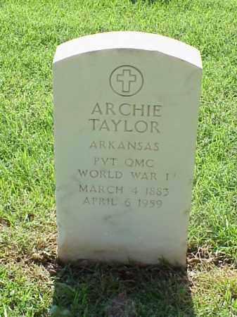 TAYLOR (VETERAN WWI), ARCHIE - Pulaski County, Arkansas   ARCHIE TAYLOR (VETERAN WWI) - Arkansas Gravestone Photos