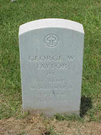 TAYLOR (VETERAN WWII), GEORGE W - Pulaski County, Arkansas | GEORGE W TAYLOR (VETERAN WWII) - Arkansas Gravestone Photos