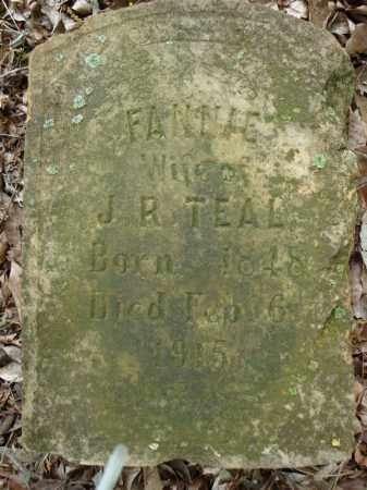 TEAL, FANNIE - Pulaski County, Arkansas | FANNIE TEAL - Arkansas Gravestone Photos