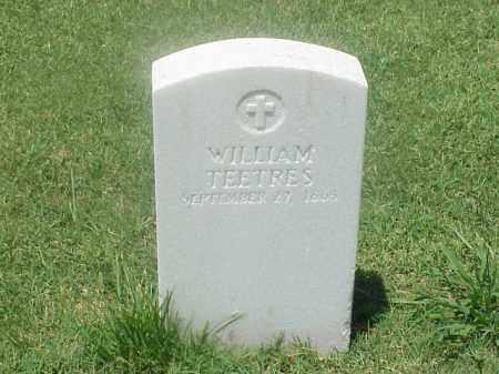TEETRES (VETERAN UNION), WILLIAM - Pulaski County, Arkansas | WILLIAM TEETRES (VETERAN UNION) - Arkansas Gravestone Photos