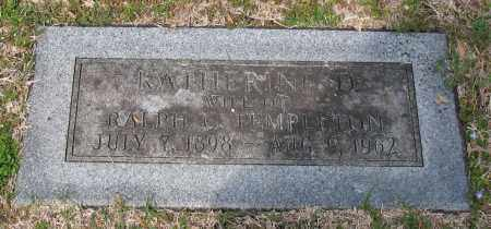 TEMPLETON, KATHERINE - Pulaski County, Arkansas   KATHERINE TEMPLETON - Arkansas Gravestone Photos