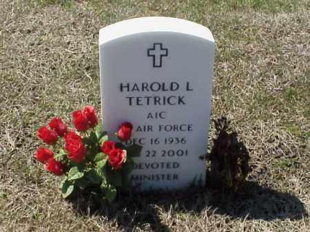 TETRICK (VETERAN), HAROLD L - Pulaski County, Arkansas | HAROLD L TETRICK (VETERAN) - Arkansas Gravestone Photos