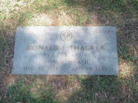 THACKER (VETERAN WWII), DONALD E - Pulaski County, Arkansas | DONALD E THACKER (VETERAN WWII) - Arkansas Gravestone Photos