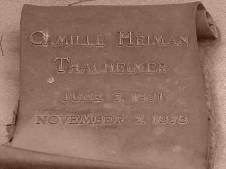 HELMAN THALHEIMER, CAMILLE - Pulaski County, Arkansas | CAMILLE HELMAN THALHEIMER - Arkansas Gravestone Photos