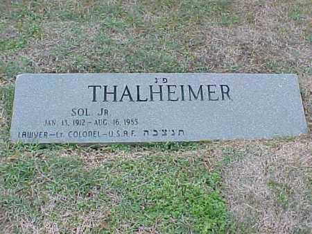 THALHEIMER, JR (VETERAN), SOL - Pulaski County, Arkansas | SOL THALHEIMER, JR (VETERAN) - Arkansas Gravestone Photos