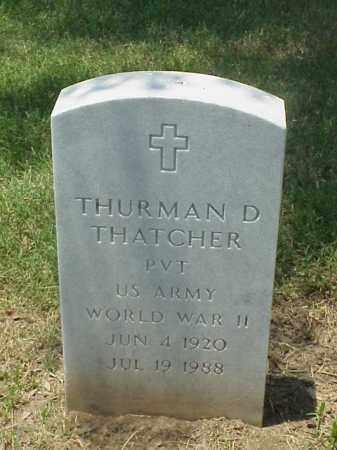THATCHER (VETERAN WWII), THURMAN D - Pulaski County, Arkansas   THURMAN D THATCHER (VETERAN WWII) - Arkansas Gravestone Photos