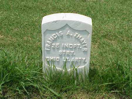 THAYER (VETERAN UNION), FRANCIS A - Pulaski County, Arkansas | FRANCIS A THAYER (VETERAN UNION) - Arkansas Gravestone Photos