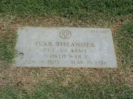 THEANDER (VETERAN WWI), IVAR - Pulaski County, Arkansas   IVAR THEANDER (VETERAN WWI) - Arkansas Gravestone Photos