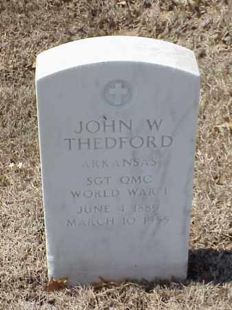 THEDFORD  (VETERAN WWI), JOHN W - Pulaski County, Arkansas | JOHN W THEDFORD  (VETERAN WWI) - Arkansas Gravestone Photos
