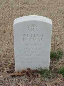 THOMAS  (VETERAN WWI), WILLIAM - Pulaski County, Arkansas | WILLIAM THOMAS  (VETERAN WWI) - Arkansas Gravestone Photos