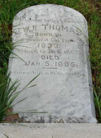 THOMAS, J.W.B. - Pulaski County, Arkansas | J.W.B. THOMAS - Arkansas Gravestone Photos