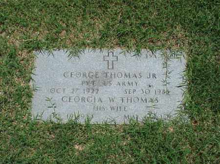 THOMAS, JR (VETERAN WWII), GEORGE - Pulaski County, Arkansas | GEORGE THOMAS, JR (VETERAN WWII) - Arkansas Gravestone Photos