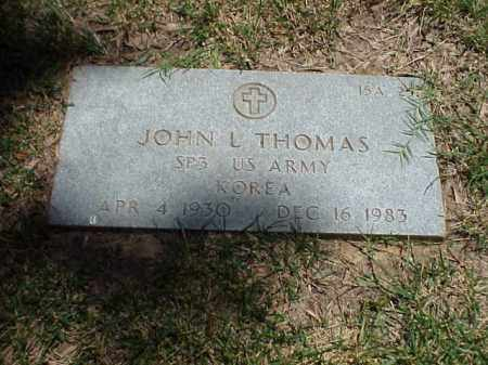 THOMAS (VETERAN KOR), JOHN L - Pulaski County, Arkansas   JOHN L THOMAS (VETERAN KOR) - Arkansas Gravestone Photos