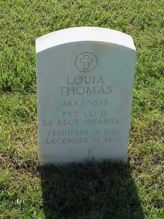 THOMAS (VETERAN), LOUIA - Pulaski County, Arkansas | LOUIA THOMAS (VETERAN) - Arkansas Gravestone Photos