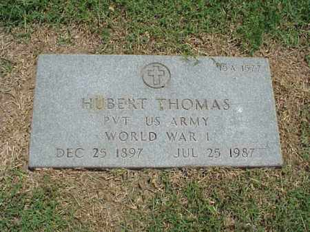 THOMAS (VETERAN WWI), HUBERT - Pulaski County, Arkansas   HUBERT THOMAS (VETERAN WWI) - Arkansas Gravestone Photos
