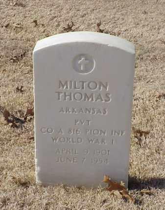 THOMAS (VETERAN WWI), MILTON - Pulaski County, Arkansas | MILTON THOMAS (VETERAN WWI) - Arkansas Gravestone Photos