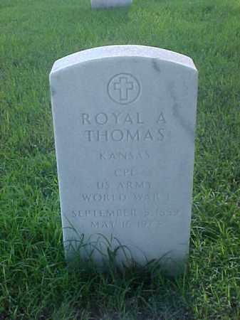 THOMAS (VETERAN WWI), ROYAL L - Pulaski County, Arkansas   ROYAL L THOMAS (VETERAN WWI) - Arkansas Gravestone Photos