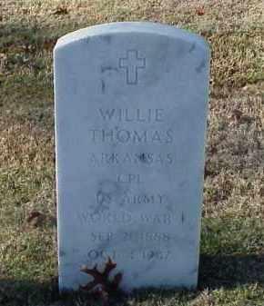 THOMAS (VETERAN WWI), WILLIE - Pulaski County, Arkansas | WILLIE THOMAS (VETERAN WWI) - Arkansas Gravestone Photos